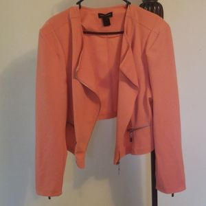 Womens crop motorcycle blazer